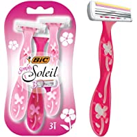 BIC Simply Soleil Disposable Women's Razors - Pack of 3 Shavers