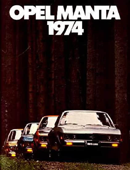 1974 Opel Manta Sales Brochure Literature Book Advertisement Options Specs