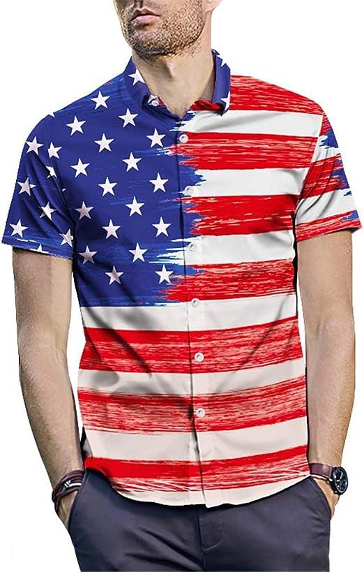 LIUXING-TUMI Camisa Hawaiana para Hombre Camisa de Playa Camisa de Manga Corta para Hombre Camisa