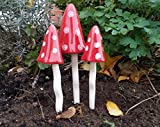 Ceramic Fairy Toadstools Garden Tinkling Mushrooms Garden Ornaments PS5081