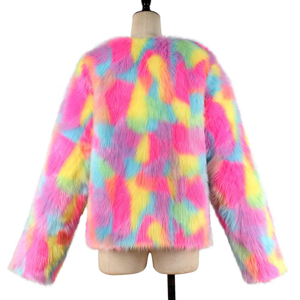 kaifongfu Winter Warm Jacket Cardigan, Women Fluffy Coat Outerwear Tops at Amazon Womens Clothing store: