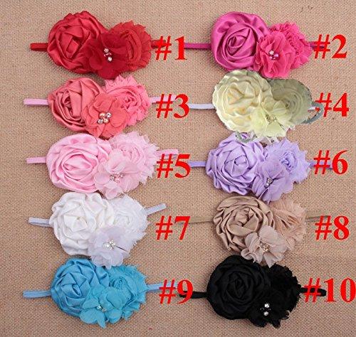 RedSonicsInfant Baby Headbands 2015 Bandeau Cheveux Satin Ri