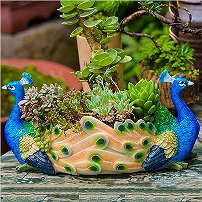 Figura Decorativa para jardín Estatua De Jardín De Resina Impermeable De Estatuilla De Animales Pequeños Para Regalo De Decoración De Césped De Jardín - (A B C D E) C:30 * 16 * 15cm: Amazon.es: Bricolaje y herramientas