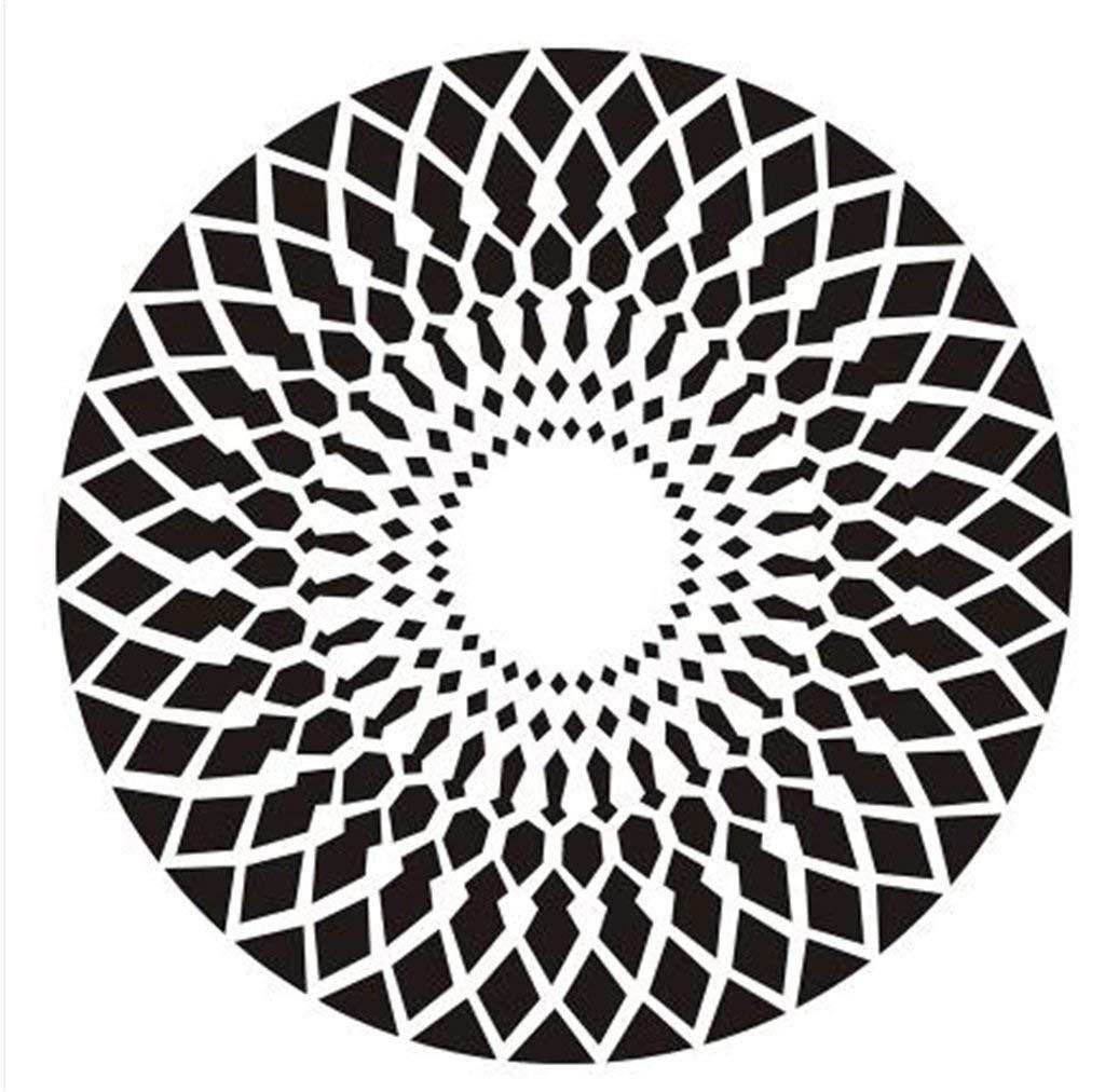 ヨーロッパの現代カーペット、居間の寝室のオフィスのコーヒーテーブルコンピュータの椅子の枕元のカーペットのタイルのマットのための創造的で白い縞 AI LI WEI (サイズ さいず : Diameter 200cm) Diameter 200cm  B07RJWT463