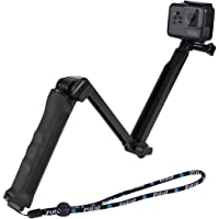 PULUZ 3-Way Grip Foldable Multi-functional Selfie Stick Extension Monopod with Tripod for GoPro HERO5 Session /5 /4 Session /4 /3+ /3 /2 /1, Xiaoyi Sport Cameras (Length:20-58cm)
