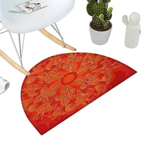 Amazon.com: Cojín semicircular rojo Mandala con formas ...