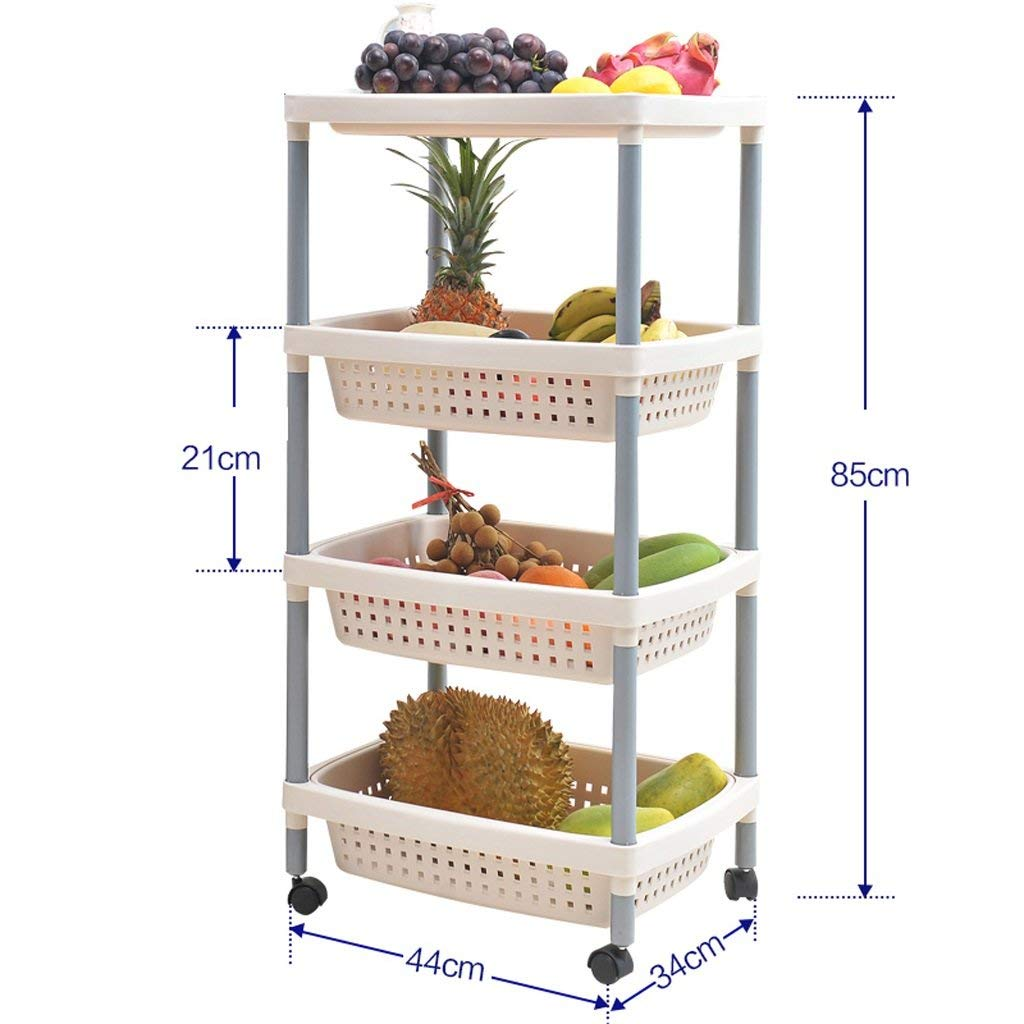 LUHEN Shelf, Floating Rack Bathroom Toilet Kitchen Rack Floor to Ceiling Seasoning Two-Layer Plastic