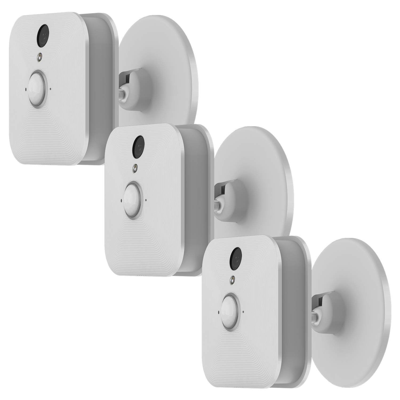 Moretek 3Pack Adjustable Holder Mount for Blink XT XT2 Camera, 360 Swivel Rotation Metal Bracket Strong Magnetic Base Indoor Outdoor Accessories Stand Mounts (White)