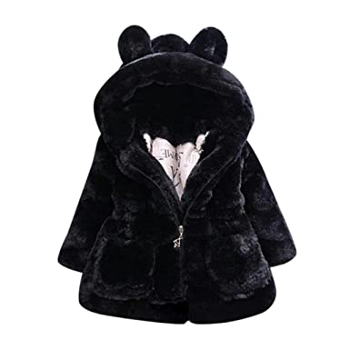 f885645873bb Amazon.com  Vicbovo Clearance Toddler Baby Girl Cute Faux Fur Bear ...