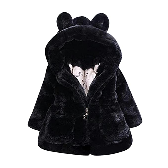 7d6894f4bab6 Amazon.com  KONFA Teen Toddler Baby Girls Hooded Thick Coat