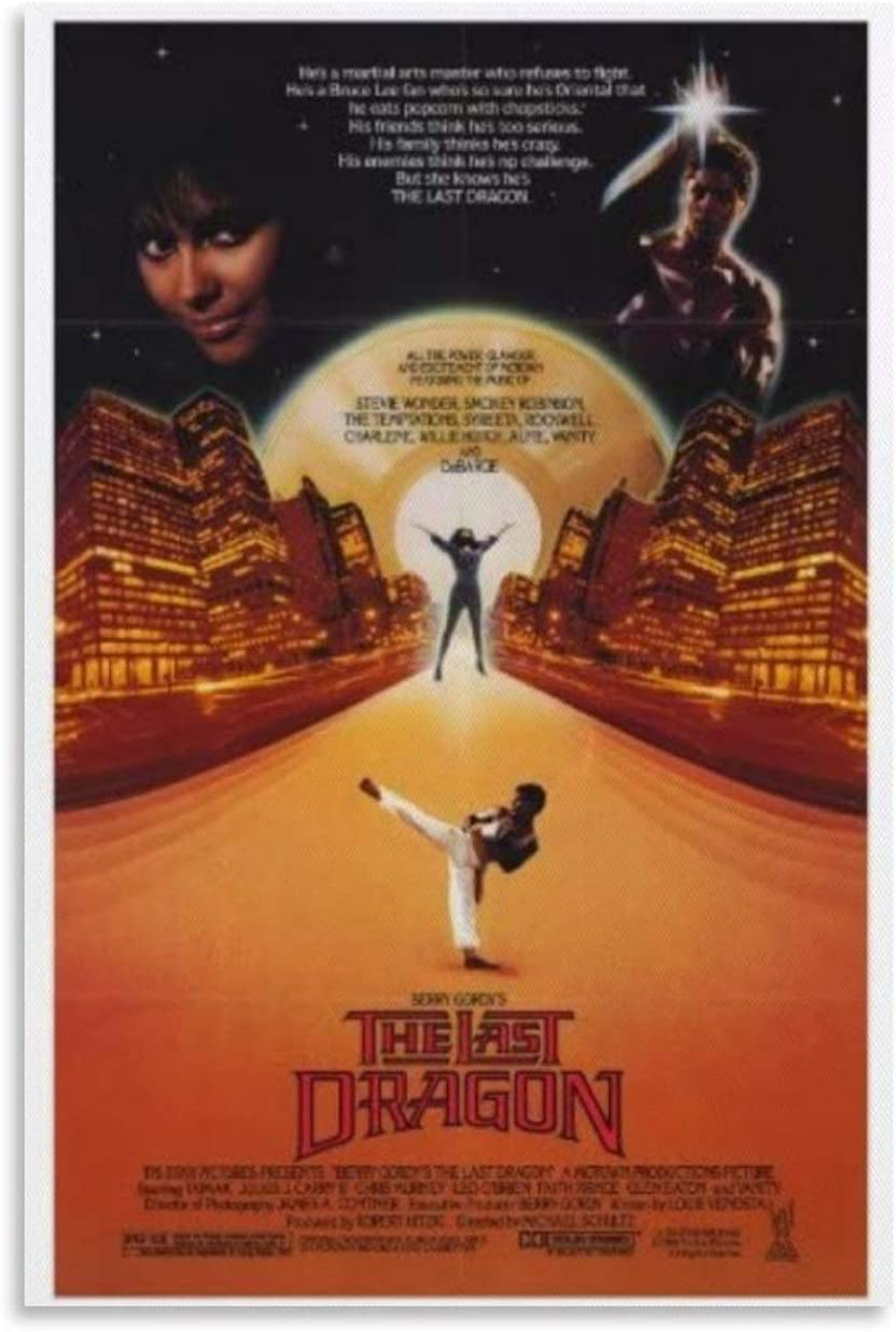 SGGB The Last Dragon Poster Movie Canvas Art Poster and Wall Art Picture Print Modern Family Bedroom Decor Posters 24x36inch(60x90cm)