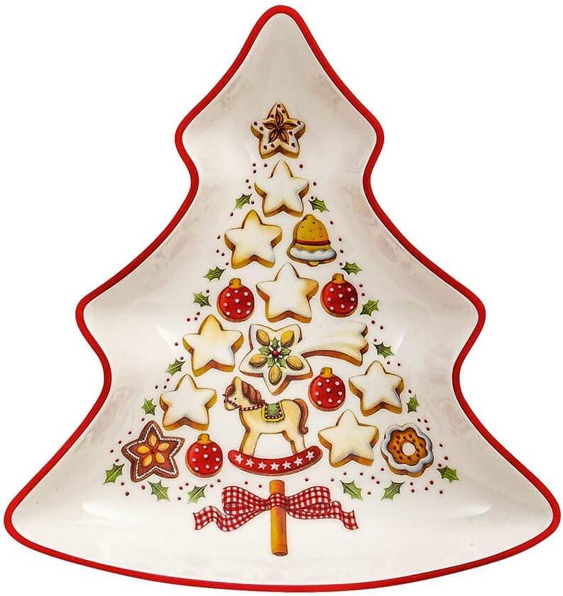 18 cm para Navidad Multicolor Villeroy /& Boch Group 14-8612-1250 Platillo de Desayuno Winter Bakery Delight Porcelana