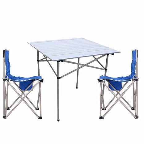 C-J-Xin Mesas y sillas Plegables, Multifunción Simple Modern ...