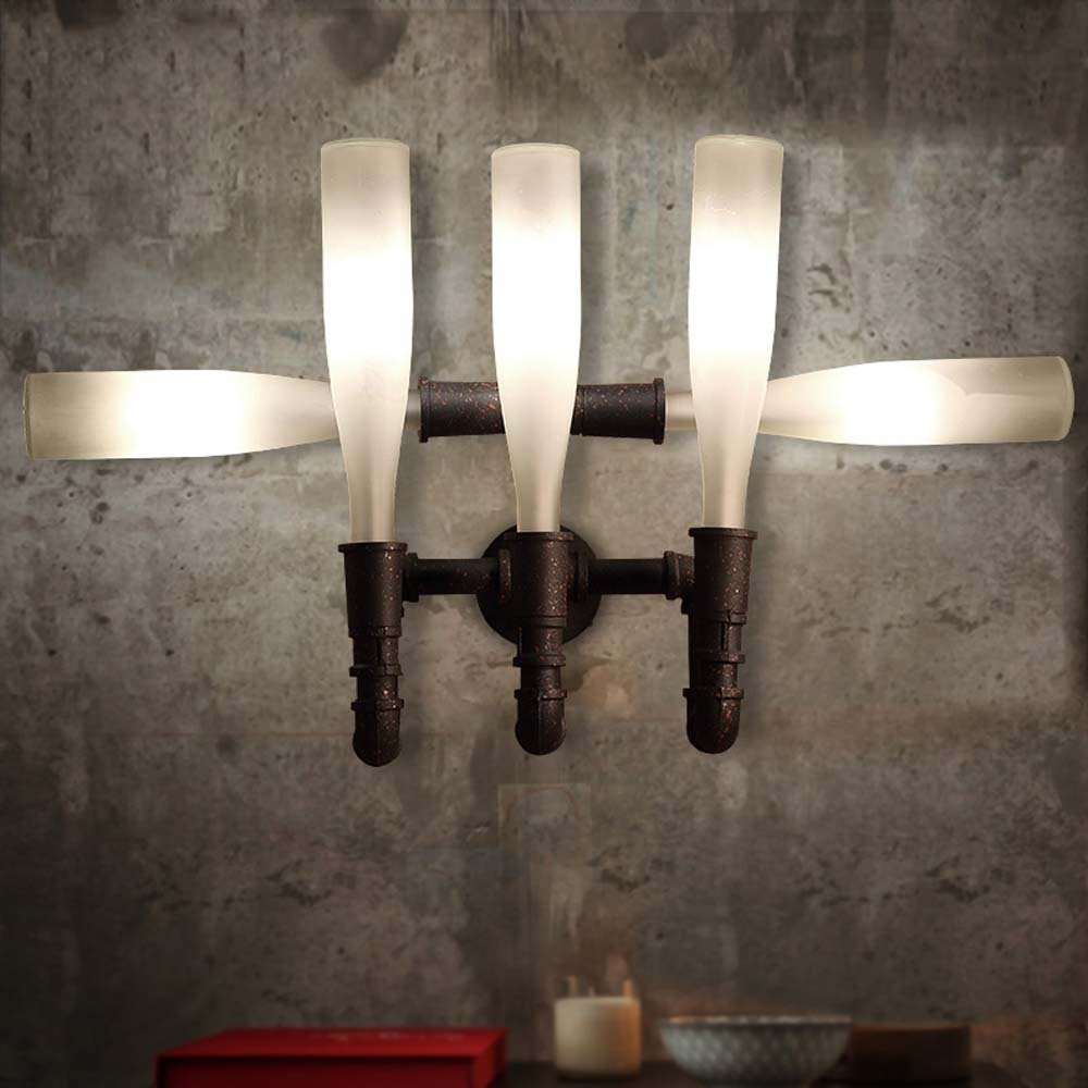 HOMEE Wall lamp- american retro industrial wind creative water pipe iron wall lamp bar bedroom aisle wall lamp --wall lighting decorations by HOMEE