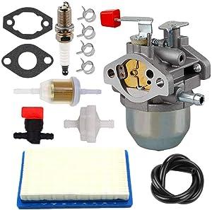 HUZTL 0C1535ASRV Carburetor 78601 Air Filter Kit for Generac 4000XL Parts 4000 EXL Nikki 97747 C1535 GN220 GH220HS W436BRE T44 35PDS396829 Sears Troy Built Portable 7.8HP Generators