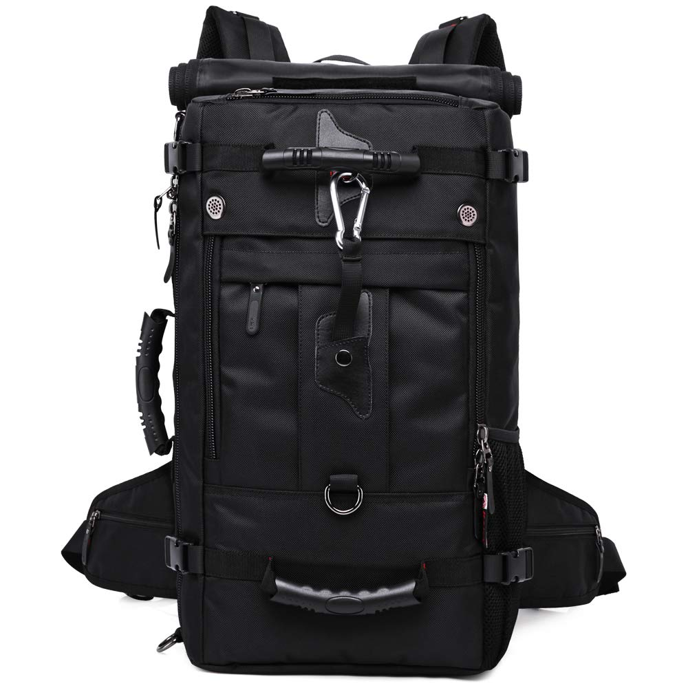 AHDA Outdoor Camping Travel Backpack Shoulder Combination Mountaineering Bag Multi-Function Travel Sports Backpack Black