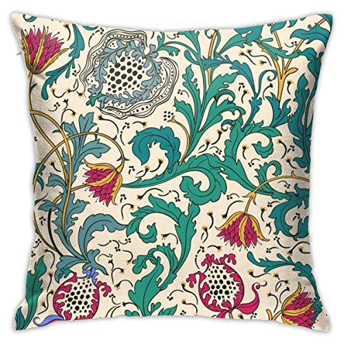 Eratdatd Customized Beautiful Vintage Floral Pattern 45 X 45 cm Pillow Cover, Sofa Bed Pillow Durable, Machine Wash Pillow Cover