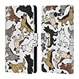 Head Case Designs German Shepherd Dog Breed Patterns Leather Book Wallet Case Cover for Samsung Galaxy J3 Emerge