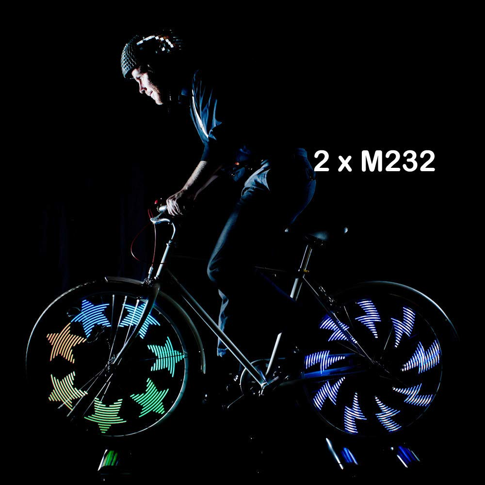 167a4cabdfe Monkey M232 Waterproof 32 Full Color LED Bike Wheel Light - Black, 200  Lumen: Amazon.co.uk: Sports & Outdoors