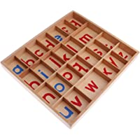 Homyl Montessori Material Movable Alphabets A-z Kids Development Toys Wooden Gifts