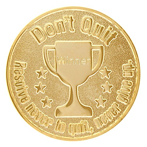 Don't Quit Never Give Up Sports Coins Gold - Winner Challenge Coins (Set of - Coin Babe Ruth Set