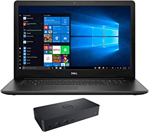 """Dell Inspiron 17 3793 Home and Business Laptop (Intel i7-1065G7 4-Core, 32GB RAM, 256GB m.2 SATA SSD, Intel Iris Plus, 17.3"""" Full HD (1920x1080), WiFi, Bluetooth, Webcam, Win 10 Home) with D6000 Dock"""