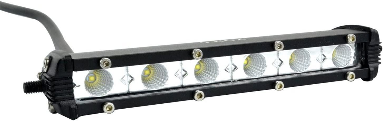 "7"" Off Road Light Bar Ultra-Slim Single Row 18W Cree LED Fog/Driving/Work Flood Light for Trucks ATV SUV Cars Bumper Rock + Mounting Brackets (2pcs/set,7 inch 18W): Automotive"