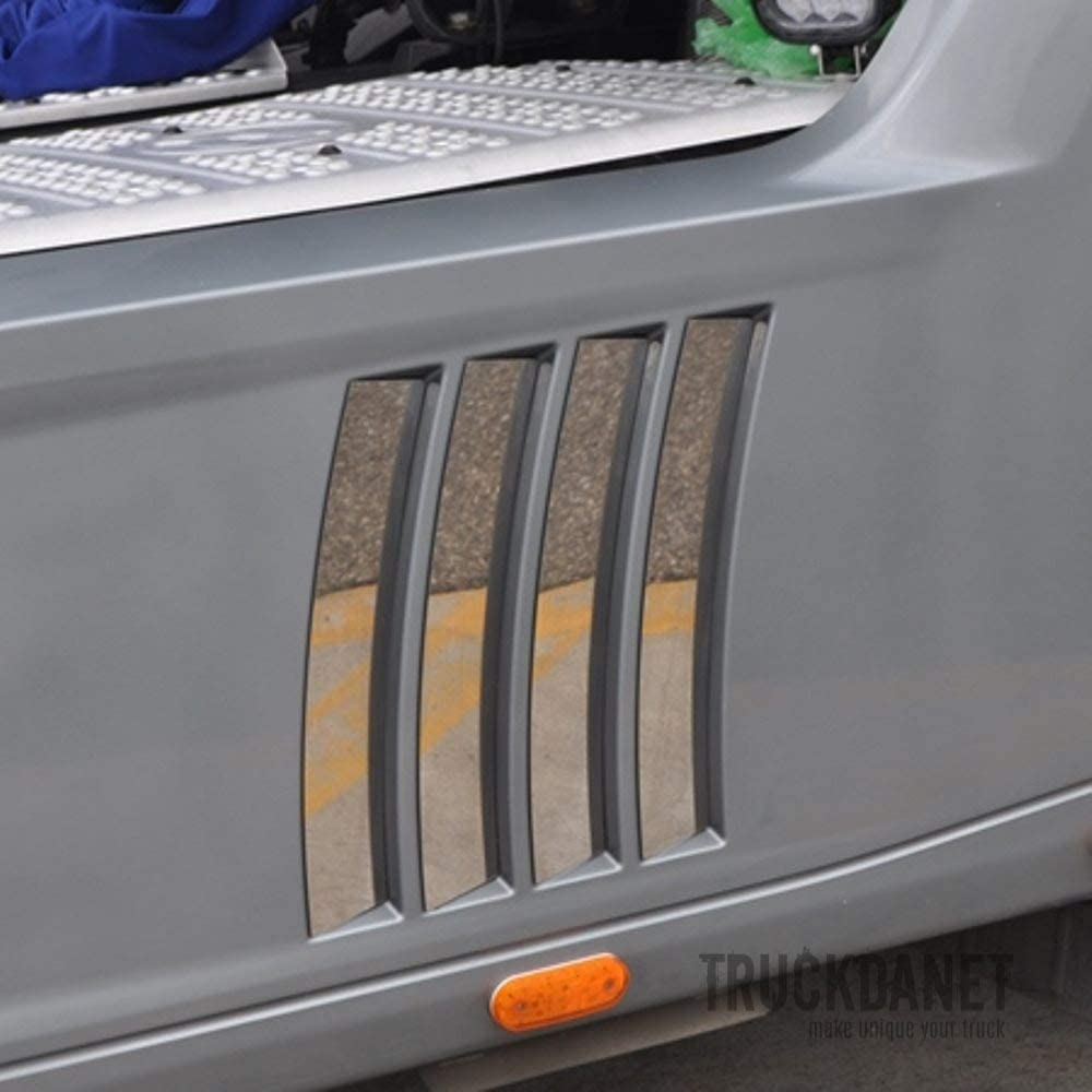 Truckdanet Stainless Steel Accessories for Actros MP4 Trucks Fairing Side Inserts