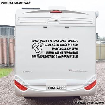 Wir Reisen Um Die Welt Lustiger Spruch Aufkleber Grosse 100x 60 Cm