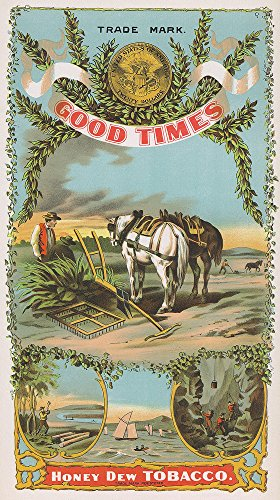 Good Times Honey Dew Brand Tobacco Label (16x24 SIGNED Print Master Giclee Print w/Certificate of Authenticity - Wall Decor Travel -