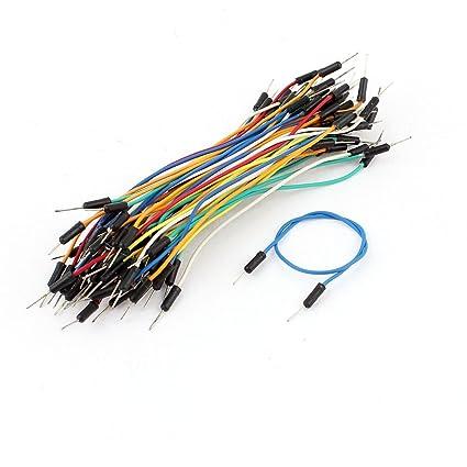 Alambres 70pcs M / M sin soldadura flexible de tablero cable de puente multicolor