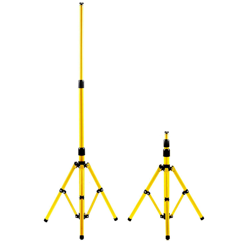 Gelb Hengda Stativ f/ür LED-Strahler H/öhenverstellbar Flutlicht St/änder Baustrahler Stahlstativ LED Fluter Arbeitsleuchten und Flutern