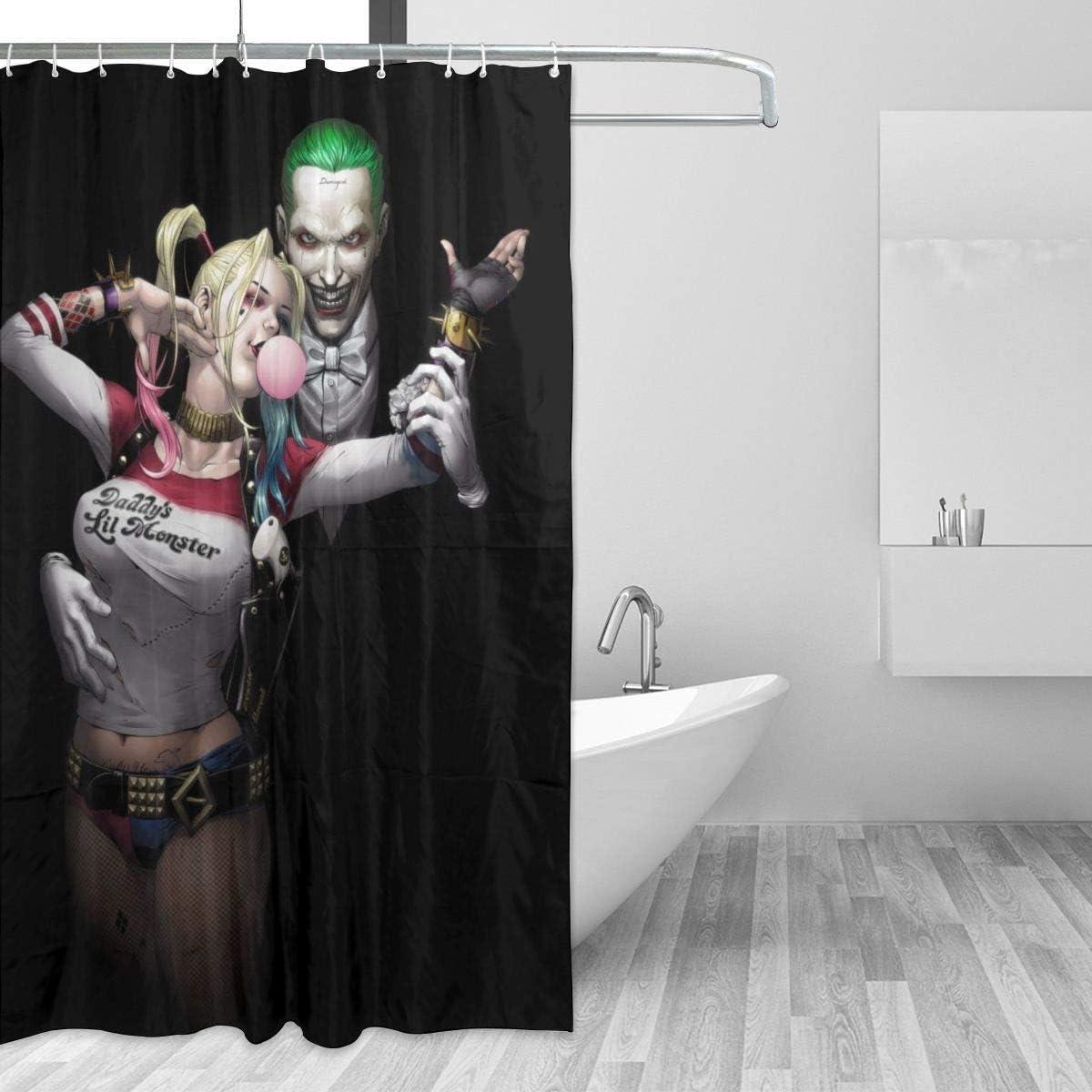 Amazon.com: HOHOHAHE Harley Quinn and Joker Shower Curtain