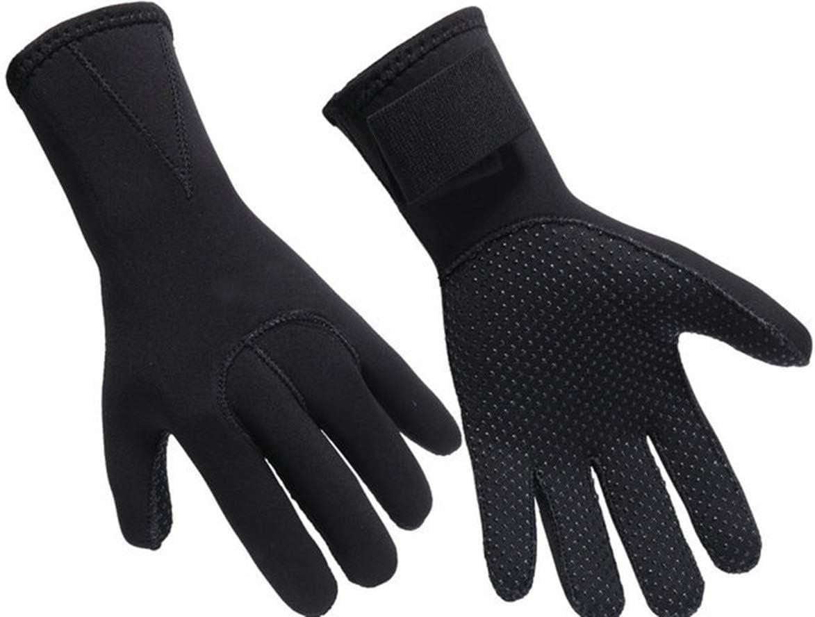 3MM Neoprene Diving Gloves Non Slip Wetsuit Five Fingers Gloves Women Men Warm Winter Water Sport Gloves for Snorkeling Paddling Swimming Surfing Sailing Kayaking Canoeing Spearfishing Skiing : Sports & Outdoors