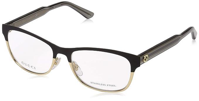 f57ad635524 Amazon.com  Gucci Women s Optical Frame 4274 0GXN Matte Black Gold Size  53-16-145  Health   Personal Care