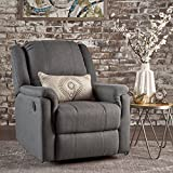 Christopher Knight Home 302057 Jemma Swivel Gliding Recliner Chair, Charcoal