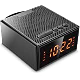 Altoparlante Bluetooth,Radiosveglia Wireless con Digitale Dimmerabile Display - 4 Allarme(saltare il fine settimana),8W Speaker Senza Fili con Radio FM,Microfono Integrato,Slot per Scheda TF, Radio FM,Bluetooth 4.2 per iPhone,iPad,Samsung