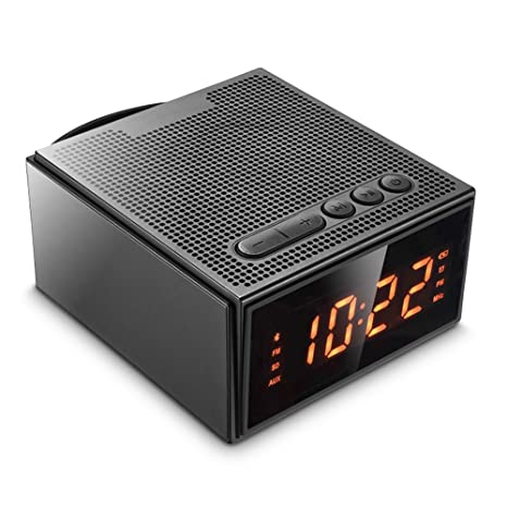 Altavoz Bluetooth,Radio Despertador Inalámbrico - (Pantalla Digital,Luz Regulable,Cuatro Alarma