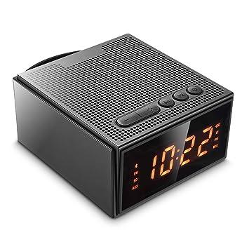 Digitaler Wecker,Bluetooth Lautsprecher U0026 Radiowecker   Dimmbare LED  Funkuhr Mit 2*Dual Alarm