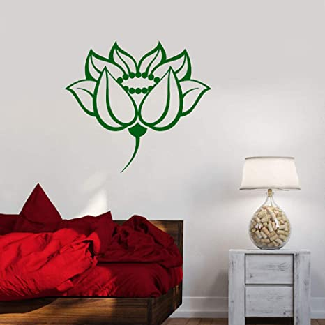 Breathe Flower Wall Decal Quotes Just Breathe Lotus Flower ...