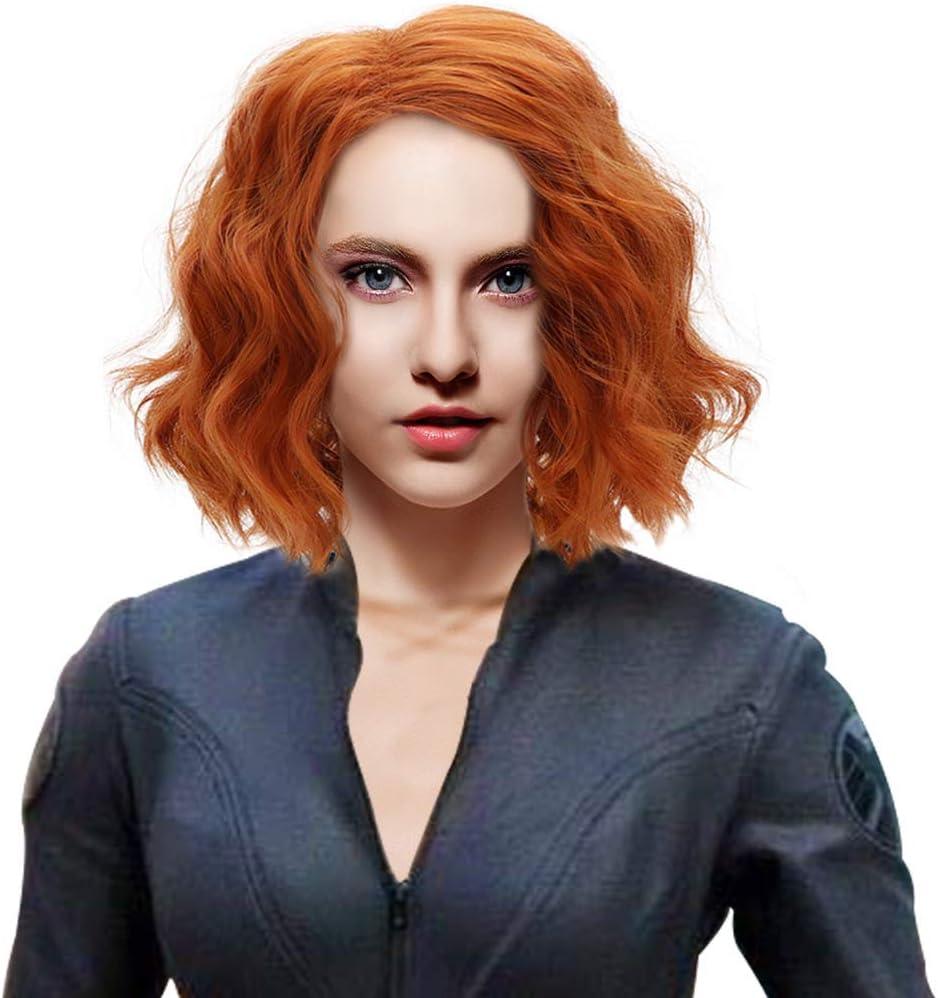 Style A Black Widow Perruque Brun Cheveux Boucl/és Endgame Cosplay Costume Accessoires pour Les Femmes Adultes Halloween Party D/éguisement Accessoires