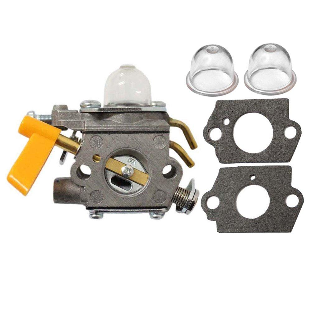 HIPA carburetor C1U-H60 308054013 308054012 308054004 308054008 with 2 Primer Bulb for 25cc 26cc 30cc Ryobi Homelite String Trimmer Brush Cutter by HIPA
