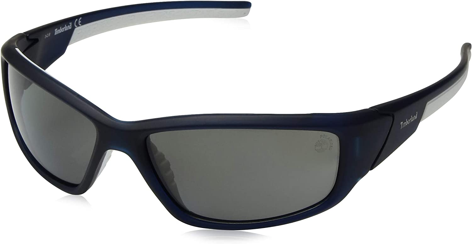 Timberland Mens TB9049SW6202D Polarized Wrap Sunglasses
