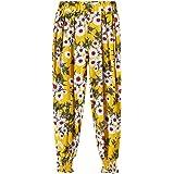 34f2a65cdc06e Harem Baggy Pantalon Fille - Sunenjoy Sarouel Bébé Fille Loose Bloomers  Danse Costume Fleur Imprimé Pants