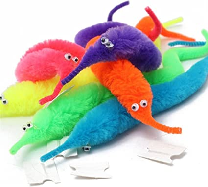 Amazon.com: Gofypel Magic Worm Toy, Wiggly Twisty Fuzzy Carnival Party  Favors Toy Xmas Gift: Toys & Games