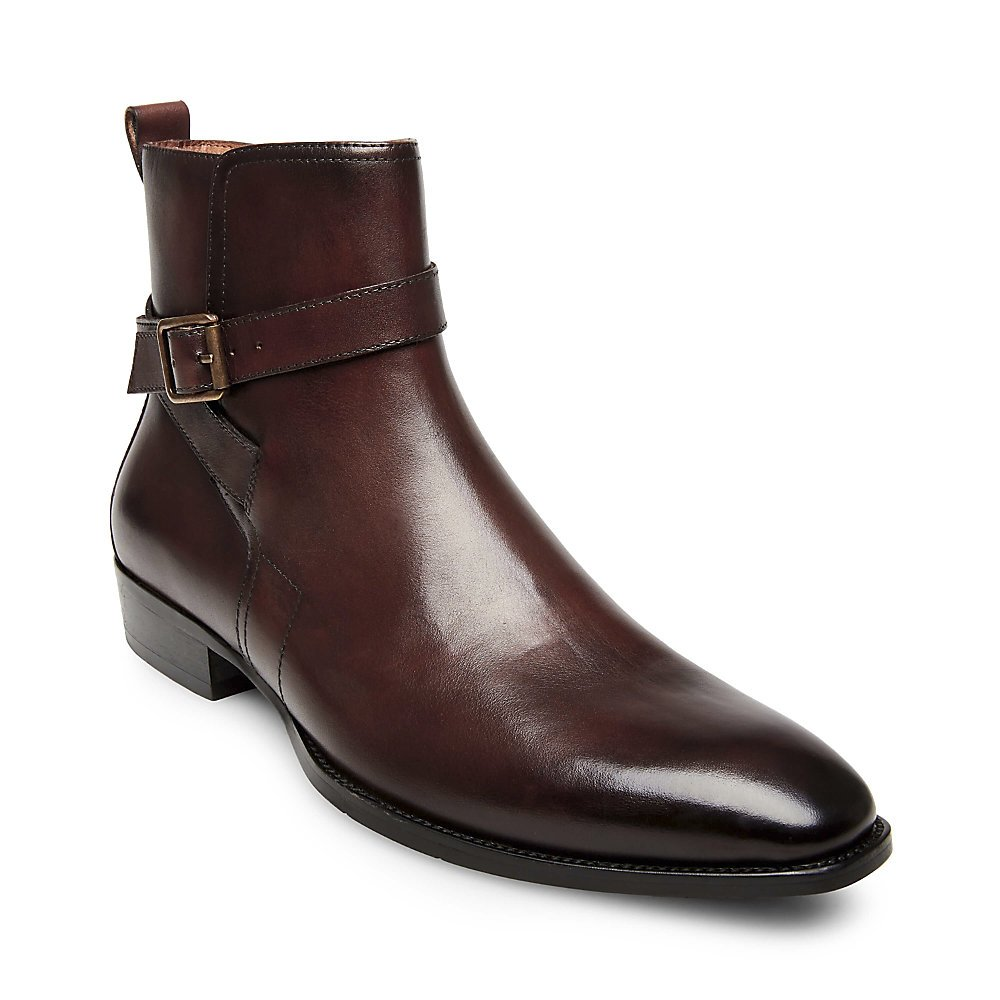 Steve Madden Men's Sacha Chelsea Boot, Brown Leather, 13 M US by Steve Madden