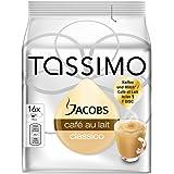 Tassimo Jacobs Café au lait - Cápsulas de café con leche, café tostado y molido, 16 cápsulas (T-Discs)