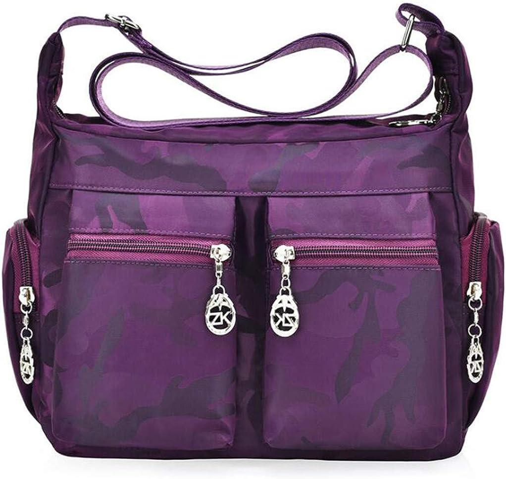 SEVENHOPE Women Tote Bag Handbags Shoulder Bags Womens Corssbody Bag Nylon Camouflage Waterproof Shoulder Bags