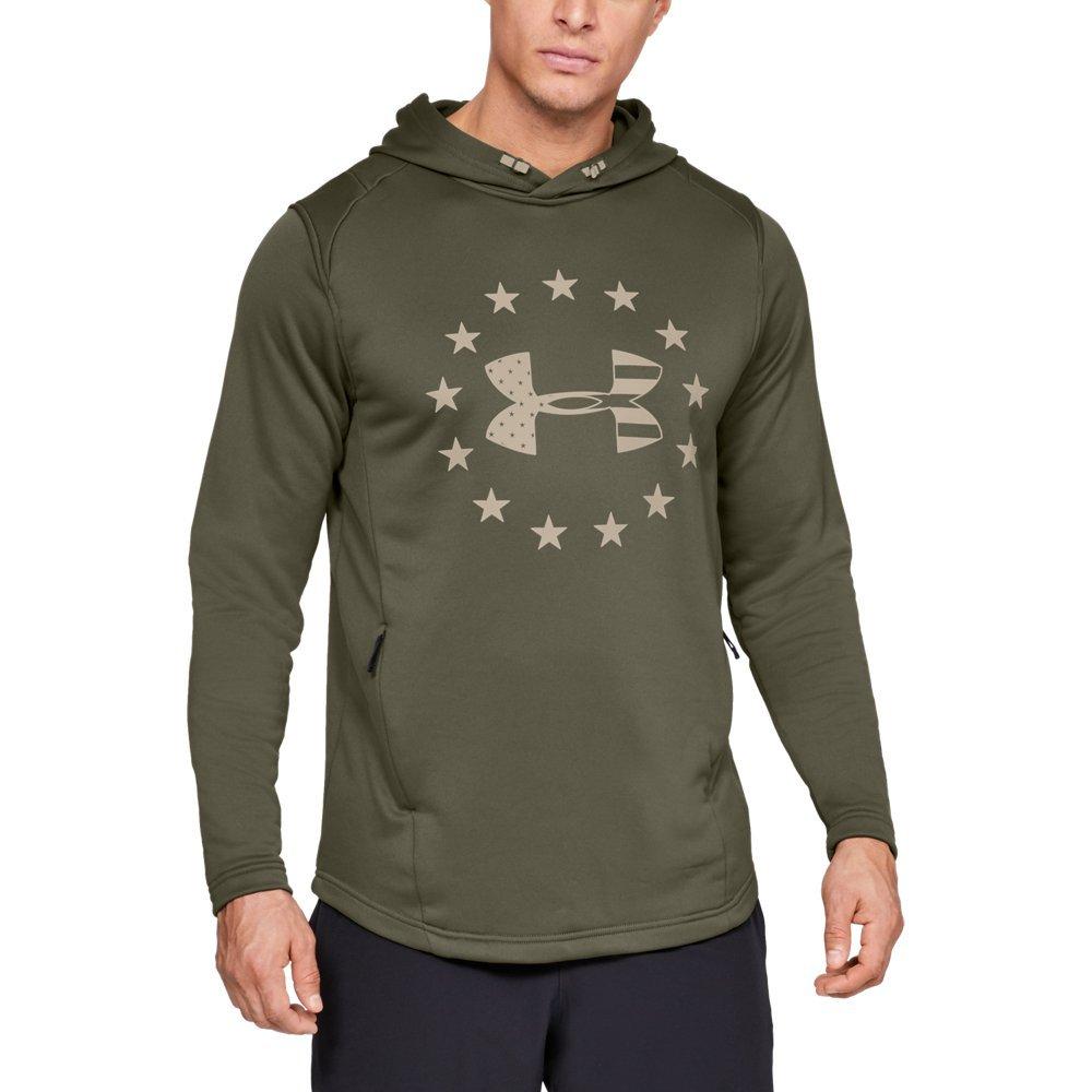 3e1449ac Galleon - Under Armour Men's Freedom Tech Terry Hoodie, Marine Od ...