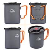 WIDESEA Camping Coffee Pot 750ML with French